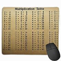 マウスパッド 乗算表 数学 グレー ゲーミング オフィス最適 おしゃれ 疲労低減 滑り止めゴム底 耐久性が良い 防水 かわいい PC MacBook Pro/DELL/HP/SAMSUNGなどに 光学式対応 高級感プレゼント Tartiny