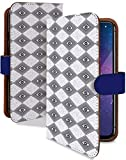 iPhone6 ケース 手帳型 エスニック ネイビー アジアン ファッション スマホケース アイフォン6 アイフォーン 6 アイホン アイフォンシックス 手帳 カバー IPHONE 6 iphone6ケース iphone6カバー チェック チェック模様 [エスニック ネイビー/t0029e]