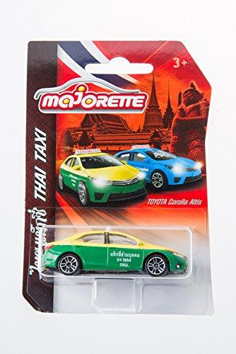 タイのタクシー車green-yellowモデルトヨタカローラAltis Majorette DieCast Limited
