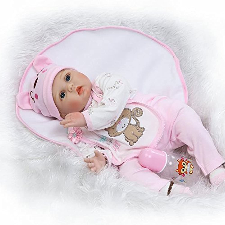 Rebornベビー人形ソフトSiliconeビニール22インチ55 cm Lovely Girls Lifelikeキュート赤ちゃん男の子女の子おもちゃ