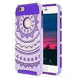 Best iPhoneの6 PLUSのケースは、ケースを保護するために - iPhone 6ケース、iPhone 6sケース、KMISS 2in1ハイブリッドケースwith Henna MandalaフローラルデザインPC +シリコンハイブリッドHigh Impact Review