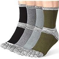 Toe socks For Men Running Five Finger Socks With Cotton Athletic Crew Women 4 Pack