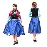 EQUISH ディズニー 仮装 アナ 雪 コスプレ ドレス 大人 アナと雪の女王 コスチューム レディース L