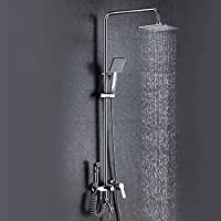 GX 浴室用水栓 シャワーバスルームウォールタイプのシャワーセットフル銅レインシャワー