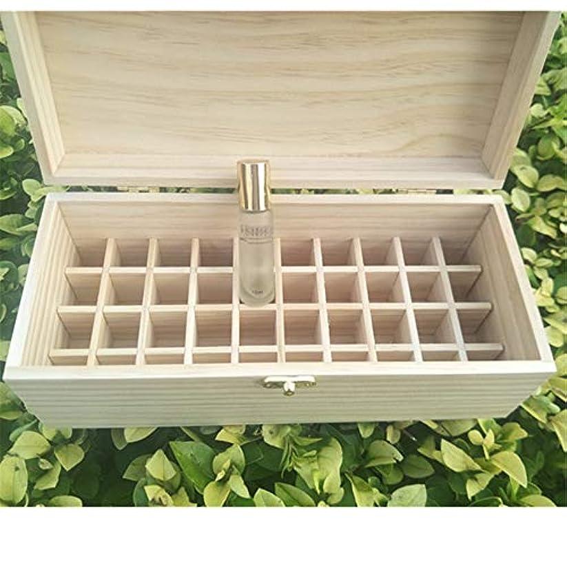 休眠十ヒゲ40スロット木製エッセンシャルオイルの収納ボックスは40の10mlの油のボトルを保持します アロマセラピー製品 (色 : Natural, サイズ : 27X11.5X10.3CM)