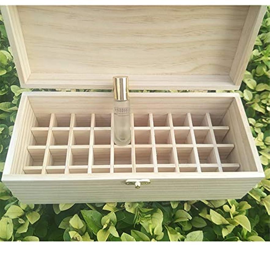 非武装化未就学免疫するエッセンシャルオイルの保管 40スロット木製エッセンシャルオイルの収納ボックスは40の10mlの油のボトルを保持します (色 : Natural, サイズ : 27X11.5X10.3CM)