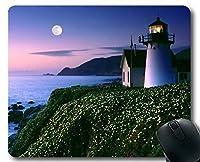 ステッチエッジマウスパッド、灯台オレゴンコーストマウスパッド