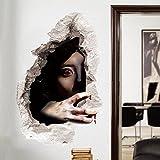 ZooArts ハロウィン 飾り 女の鬼 恐怖雰囲気 3D ハロウィン道具 ウォールステッカー シール ウォールペーパー 環境保護 おしゃれ はがせる インテリア雑貨 賃貸OK