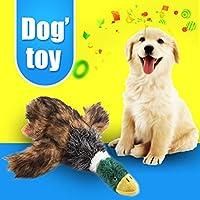 PovKeever ペットおもちゃ アヒル 犬おもちゃ 犬噛むおもちゃ ぬいぐるみ ワンちゃん 噛む 歯ぎ清潔 運動不足解消 発声装置搭載 ペット用品