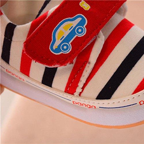 tenworld幼児赤ちゃん男の子女の子ストライプベビーベッド靴ソフトソール滑り止めスニーカー 16