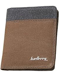 Strimm キャンバスの小さな二つ折りのフロントポケットウォレットカードホルダー札入れ