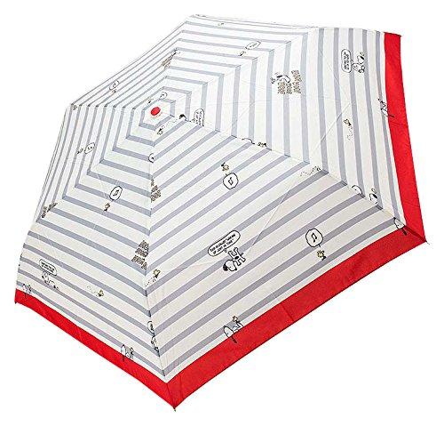 スヌーピー 晴雨兼用UV折りたたみ傘...