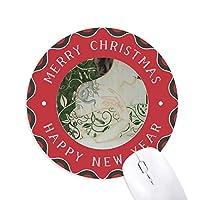 美しさのつるヘビ中国風の水彩画 円形滑りゴムのクリスマスマウスパッド