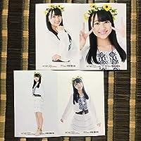 HKT48 2018 伊藤優絵瑠 8月 August 月別 劇場 トレーディング ランダム 生写真 4種 4枚 コンプ