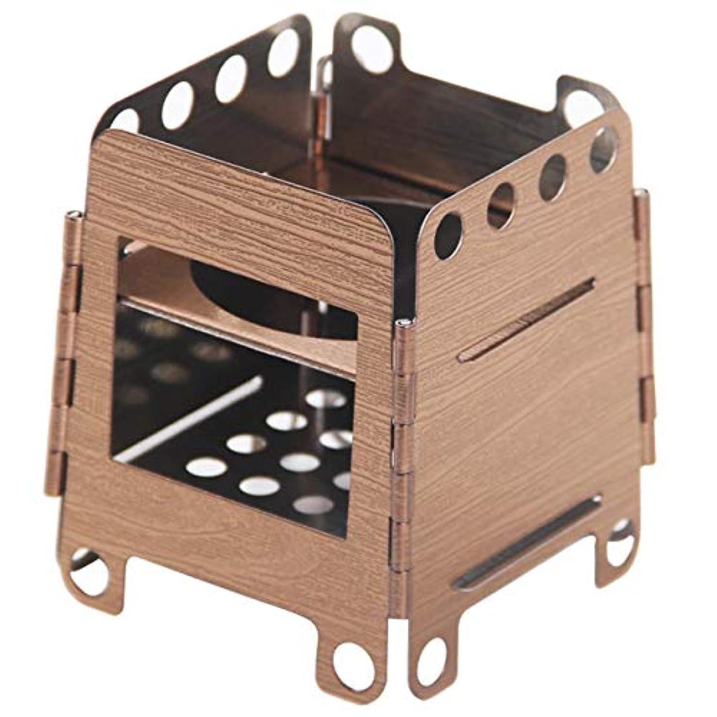 切るネブ勃起AddGear ウッドストーブ 木目調 ステンレス製 折りたたみ式 コンパクト 小型 ミニ ソロキャン AG-WOODSTV