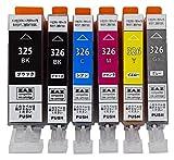 ZAZ BCI-326+325/6MP キャノン プリンター用 互換インク 6色セット ICチップ付き [ZAZ] [ FFPパッケージ(L)]