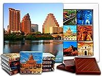 DA CHOCOLATE キャンディスーベニア テキサス州 チョコレートギフトセット 13x13cm 1箱 (ヒューストン)