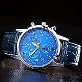 PUMA 腕時計 ZooooM カラフル 文字盤 腕時計 メンズ 男性 クロノグラフ レザー 革 クロコ 型押し ベルト カジュアル ビジネス フォーマル ( ブルー ) ZM-WATCH2-659-BL