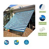 Insun 日除け シェード 遮光率90% HDPE素材 シェードセイル スクエア 日よけ シェード アウトドア 青と白 4m x 4m