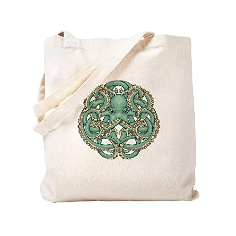 CafePress – Octopusエンブレム – ナチュラルキャンバストートバッグ、布ショッピングバッグ S ベージュ 0813407212DECC2