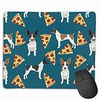 ラットテリアドッグピザパターン1マウスパッド25 x 30 cm