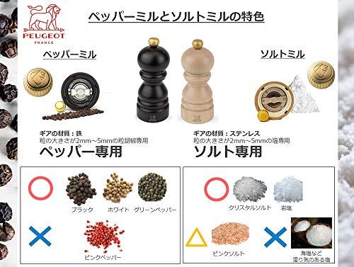プジョー PEUGEOT ミル ペッパーミル 粗さ調節 12cm チョコ パリ ユーセレクト 23447