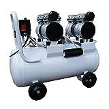 静音 コンプレッサー 2馬力(1.5kW) 静音仕様(58db) オイルレス 50L ダブルピストン ホワイト-静音Wモーター50L-