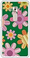 sslink ZenFone3 Deluxe ZS570KL 5.7インチ ハードケース ca622-4 花柄 レトロ ポップ フラワー スマホ ケース スマートフォン カバー カスタム ジャケット ASUS エイスース アスース