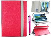 Emartbuyユニバーサル10–11インチマルチ角度フォリオ財布型ケースカバーカードスロット付き& Elastic Suitable forリストされたデバイス下 MA957577