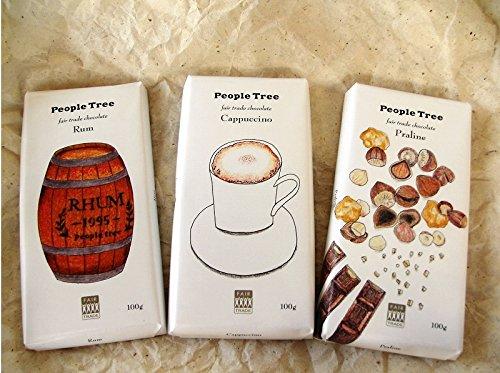 ピープルツリー フェアトレードチョコレート100g 全3種類セット