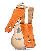ギター用ストラップ、柔らかいコットンウェビング&本革用バンジョーストラップ(ベース、エレクトリック、アコースティックギター用)