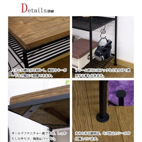北欧風家具 Kelt 木製 パソコンデスク ハイタイプ Kelt-desk