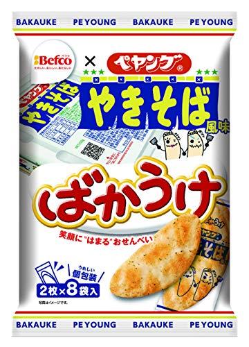 栗山米菓 ばかうけ(ペヤングソースやきそば風味) 16枚×12袋
