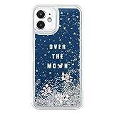グルマンディーズ ディズニーキャラクター、ピクサーキャラクター/iPhone12 mini(5.4インチ)対応 グリッターケース ミッキーマウス DN-814A ネイビー