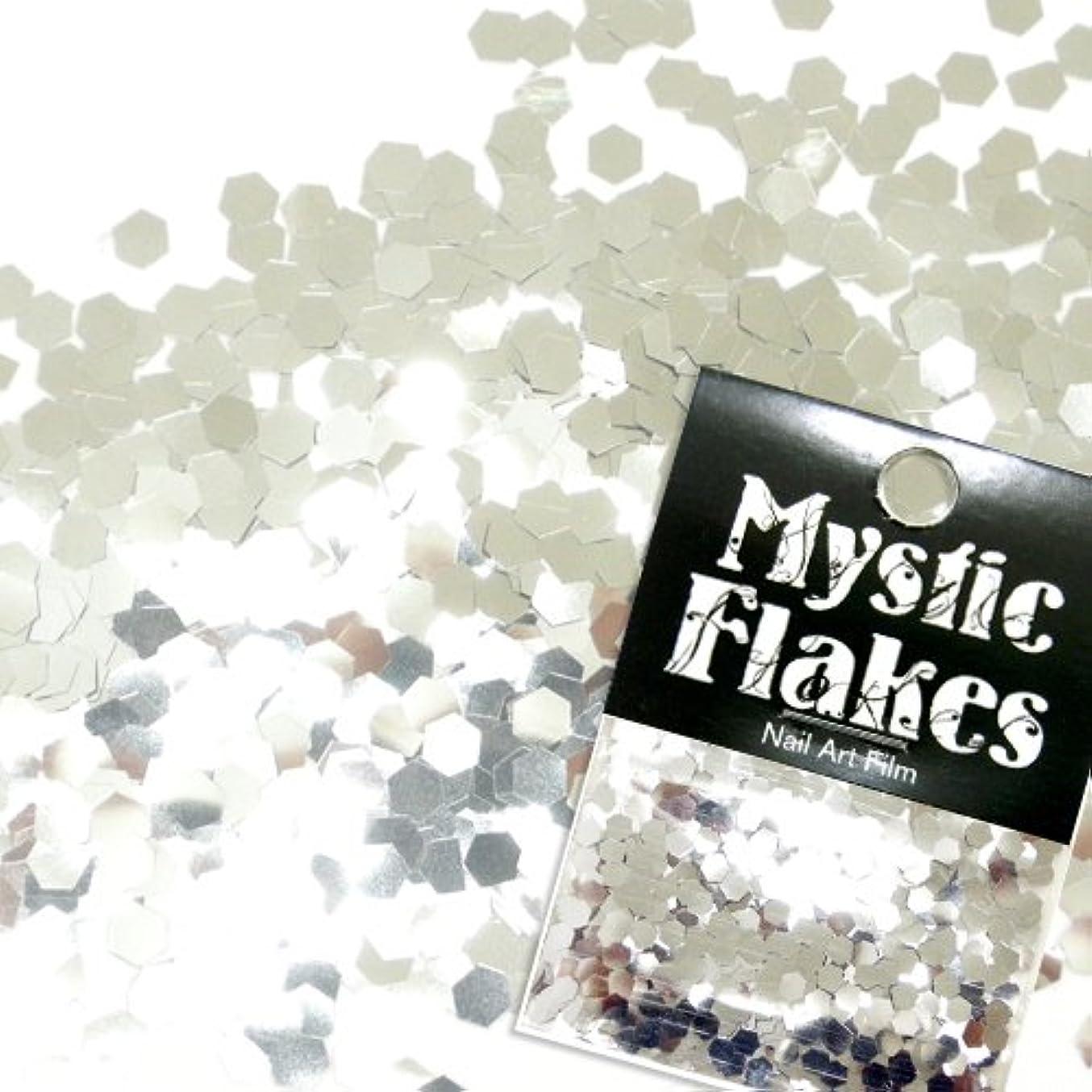 嫌悪刺繍起きているミスティックフレース ネイル用ストーン メタリックシルバー ヘキサゴン 2.5mm 0.5g