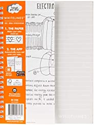 Whitelines WhiteLines Soft Cover Whitelines White Soft Cover A5 120P 7mm Ruled 80gsm, (197076)