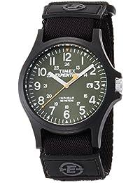 [タイメックス]TIMEX アーカディア 40mm オリーブグリーンダイアル ブラックナイロンストラップ TW4B00100 メンズ 【正規輸入品】