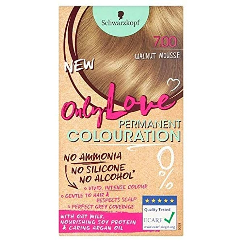 高尚な大洪水ちらつき[Only Love ] 唯一の永久染毛剤700クルミのムースを愛します - Only Love Permanent Hair Dye 700 Walnut Mousse [並行輸入品]