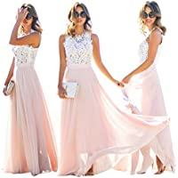 Formal Long Women Lace Dress Prom Evening Party Cocktail Bridesmaid Wedding AU