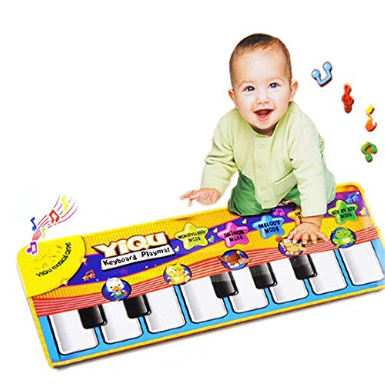 赤ちゃん音楽玩具、ツガ幼児子再生キーボードミュージカルおもちゃKid Playingカーペットマット Free size イエロー ldc126