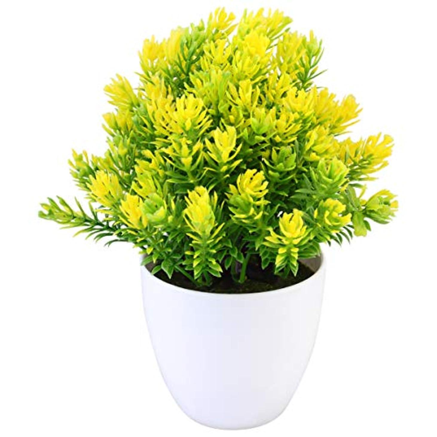 納屋失敗汚染されたOUNONA 人工観葉植物 フェイクグリーン 観葉植物 フェイク 造花 鉢植え 枯れない 室内 ホーム 庭 装飾 可愛い贈り物(C)