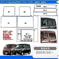 カット済みカーフィルム ダイハツ(DAIHATSU) アトレーワゴン 5ドア S321G,S331G 車 フィルム フイルム カーフイルム シルバー/ミラータイプ リアサイドドアの形状小窓有り