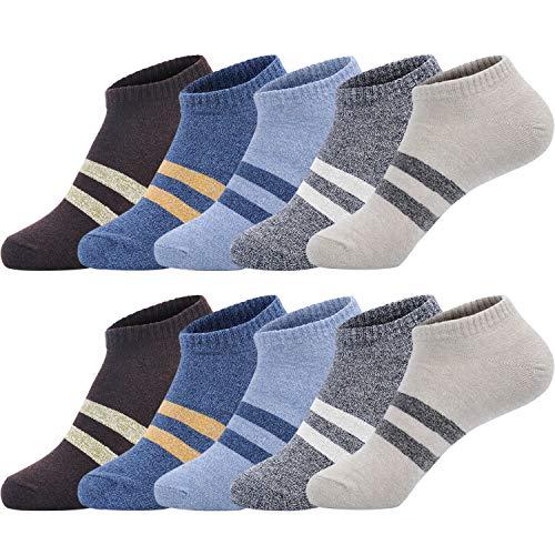 ソックスメンズ SIMIYA 靴下 メンズ くるぶし 抗菌防臭 ショートソックス 通気吸汗 スニーカーソックス 10足セット 綿混 ステルス 定番 (マルチ1)