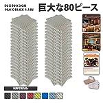 エースパンチ 新しい 80ピースセットグレー 500 x 500 x 30 mm エッグクレート 東京防音 ポリウレタン 吸音材 アコースティックフォーム AP1052