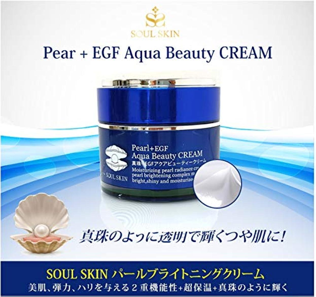 【SOUL SKINパールEGFクリーム】真珠クリーム/赤みを抑える/モイスチャークリーム アクア 保湿成分配合