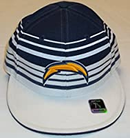 San Diego Chargers Structured Flat Billストライプリーボック帽子サイズ71/ 8–tr90K