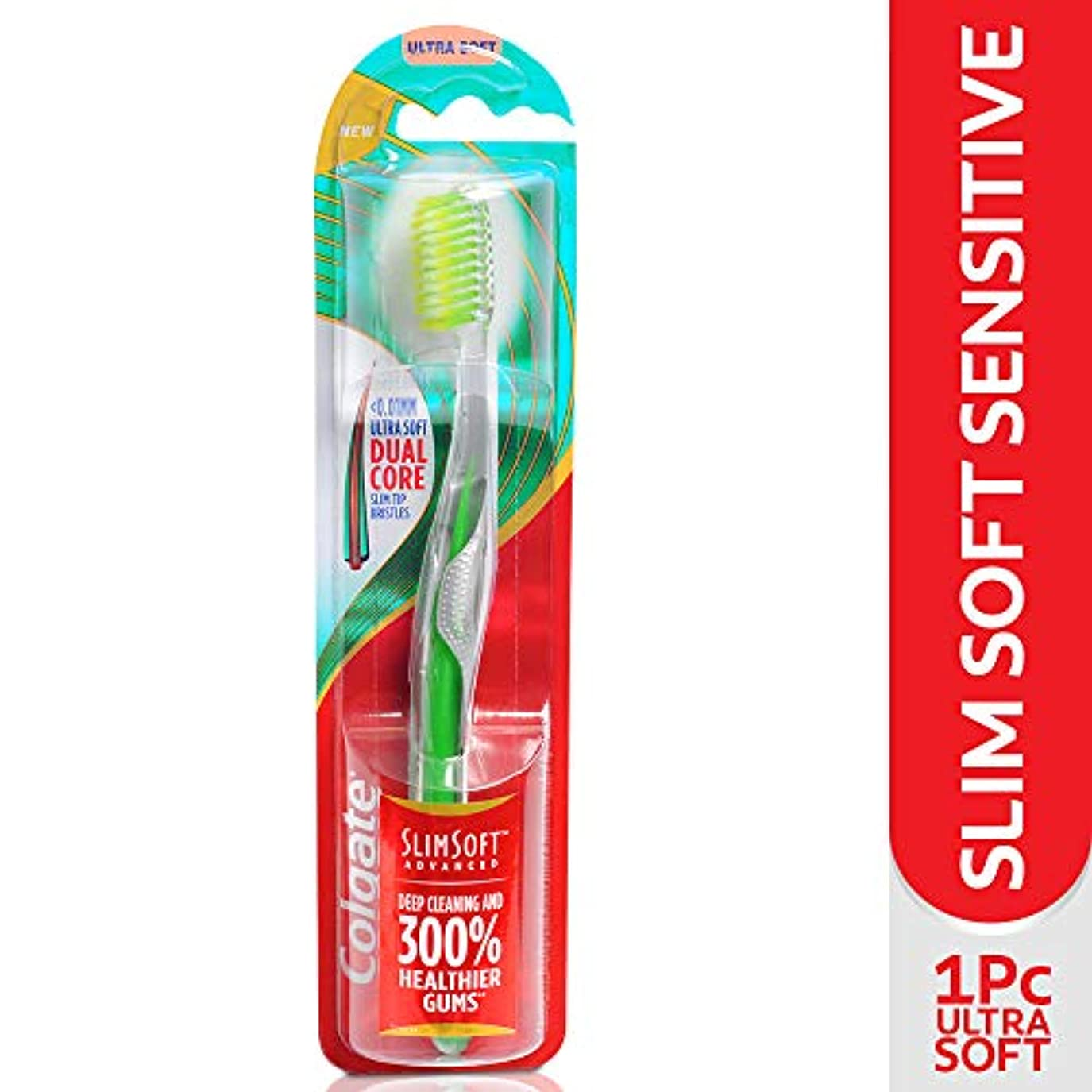 時折トリム上へColgate SLIMSOFT ADVANCED (ULTRA SOFT) TOOTHBRUSH - 1PC