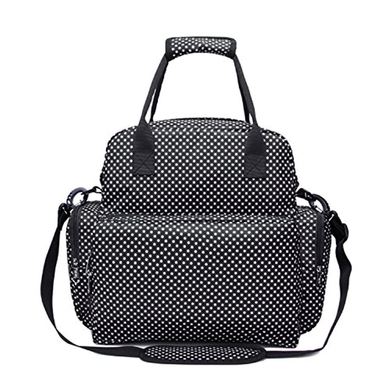 ファッション多機能大容量マザーズマタニティバックパックBaby Diaper Nappyショルダーハンドバッグwith Changing Pad Forアウトドア旅行ショッピングピクニック ブラック G430390022