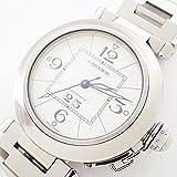 カルティエ パシャ38 メンズ 腕時計 オートマ 自動巻き ビッグデイト 白文字盤 シルバー [美品]中古