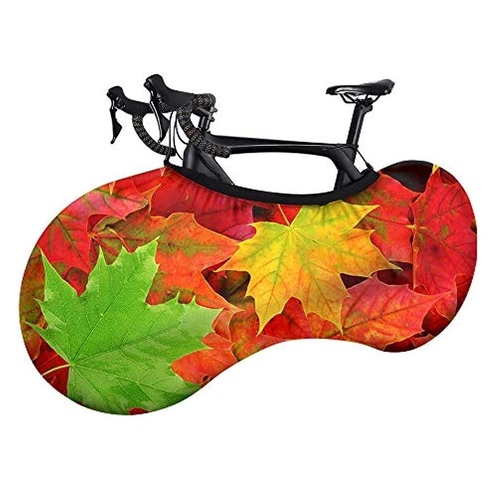 つかいます確立蘇生する自転車のホイールカバー、防塵インドアバイク収納バッグ、洗える伸縮性のある自転車の引っかき傷防止保護機能が床を汚れなしに保ちます